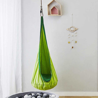 Child Pod Swing Chair Tent Nook Indoor Outdoor Hanging Seat Hammock - Green