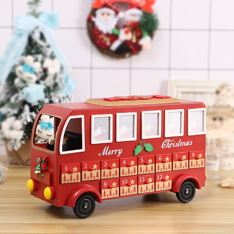 Christmas Bus Calendar Countdown Decoration