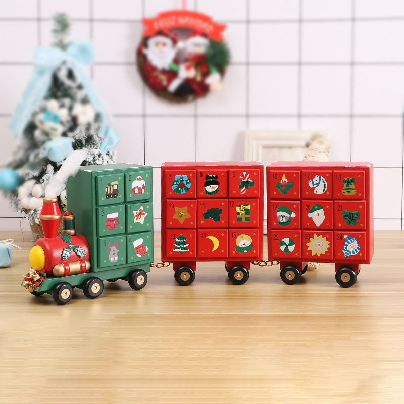 Christmas Wooden Advent Calendar Countdown Decoration