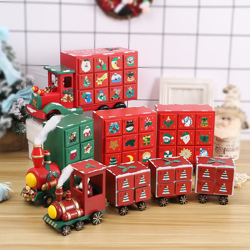 Christmas Train Calendar Countdown Decoration