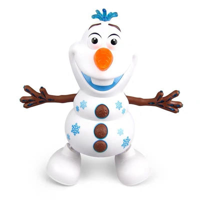Dancing Olaf Snowman Robots With LED Music Kids Gifts