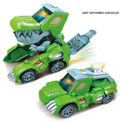 Transforming Dinosaur LED Car - BigBoomidea