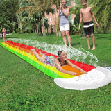 Rainbow Slip n Slide Lawn Outdoor Spraying Inflatable Water Sprinkler Pad