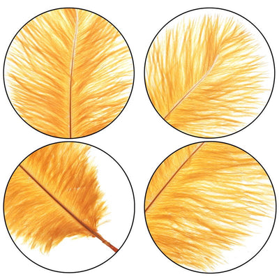Moodaily™ 6 PCS Golden Plume Real Natural Ostrich Feathers Decoration