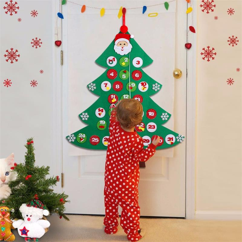 Kids Felt Christmas Tree Countdown Advent Calendar