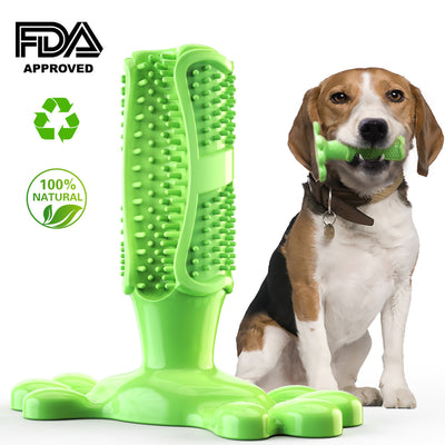 Green Dog Toothbrush Stick Tooth Cleaner Pet Chew Teeth Cleaning Massager