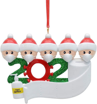 Personalized Christmas Ornaments DIY Name Snowman Pendant - Family of 5
