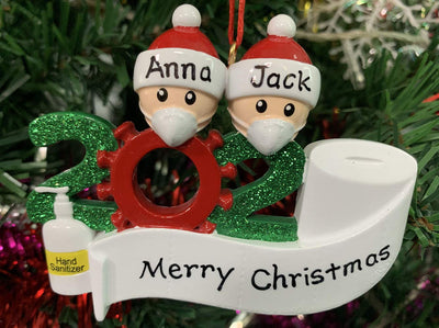 Personalized Christmas Ornaments DIY Name Snowman Pendant