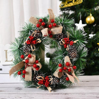 Handmade Deluxe Decorated Flocked Christmas Wreath