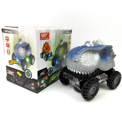 Grey LED Electric Dinosaur Car Toy For Kids