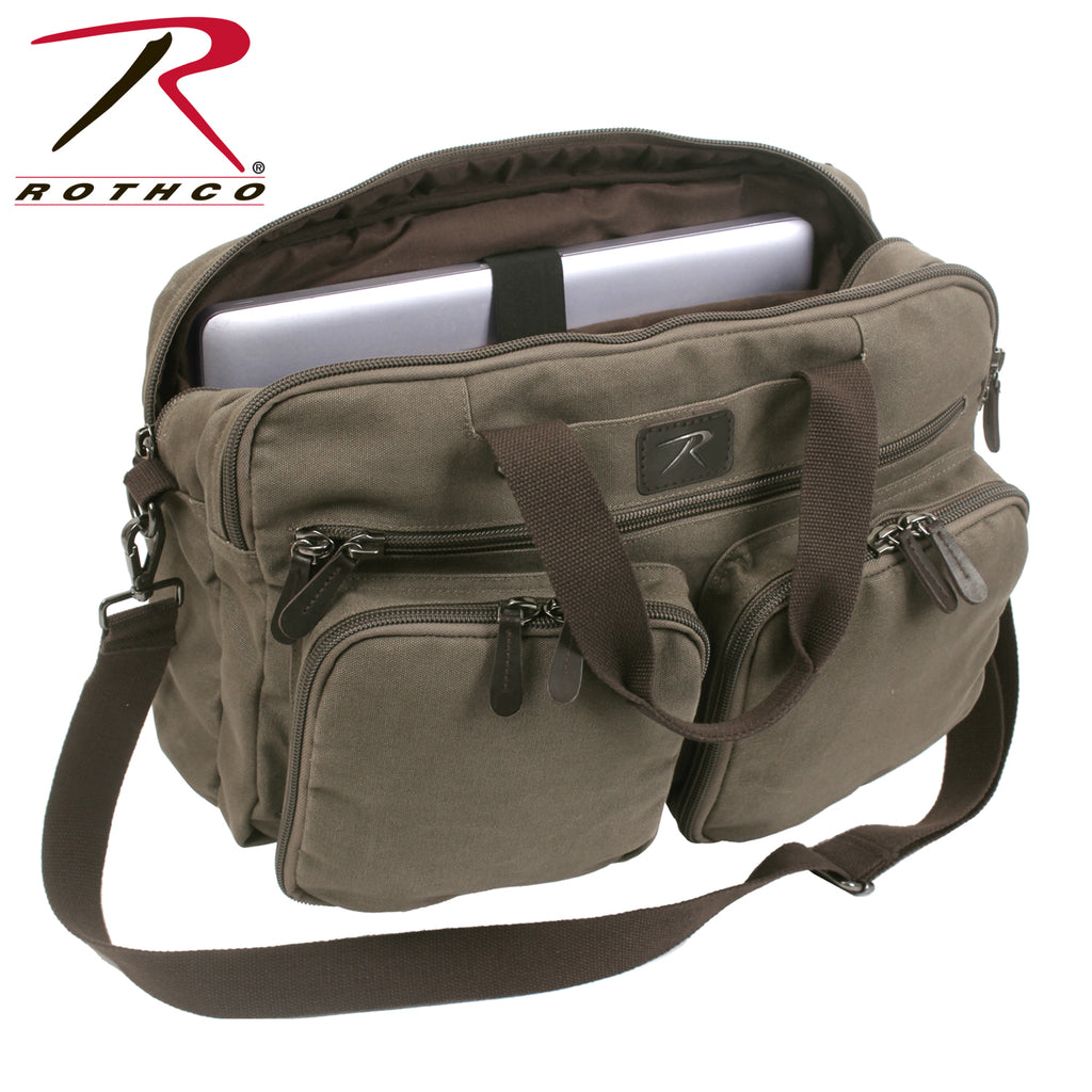 Rothco Canvas Briefcase Backpack - selfreliancestore.com
