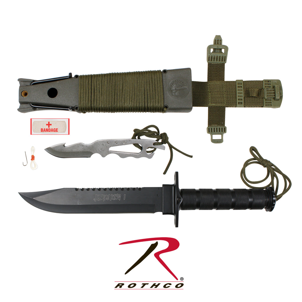 Rothco Deluxe Jungle Survival Kit Knife - selfreliancestore.com