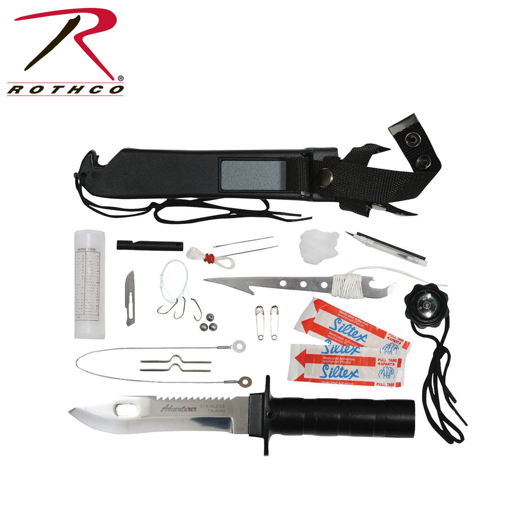 Rothco Deluxe Adventurer Survival Kit Knife - selfreliancestore.com