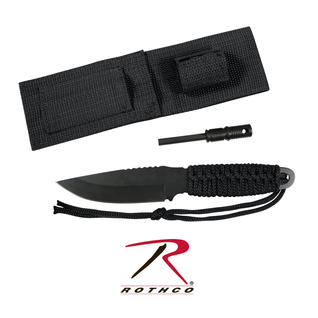 Paracord Knife With Fire Starter - selfreliancestore.com