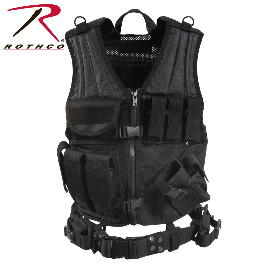 Rothco Cross Draw MOLLE Tactical Vest - selfreliancestore.com