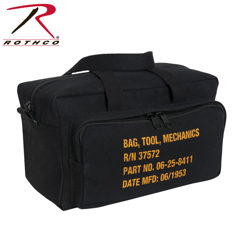 Vintage G.I. Type Zipper Pocket Mechanics Tool Bag With Military Stencil - selfreliancestore.com