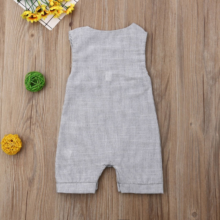 Grey Sleeveless Romper