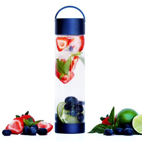 Glass Water Bottle CLASSIC Eclipse - Liquidsands