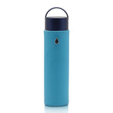 Glass Water Bottle CLASSIC Sky Blue - Liquidsands