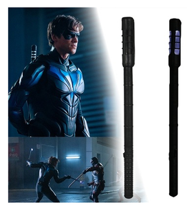 Titan Season 2 Cosplay Nightwing Caliper stick Light electric batons  prop