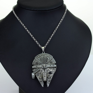 Movie Star Wars Necklace Falcon Darth Vader Metal Alloy Pendant Necklace