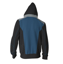 Load image into Gallery viewer, Star Discovery Trek Cosplay Zipper Hoodies