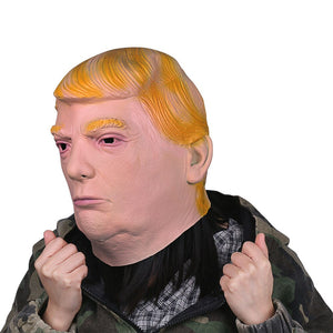 1PC Donald Trump helmet Billionaire Presidential Costume Latex Cospaly helmet For Halloween Party Decorations Ornament