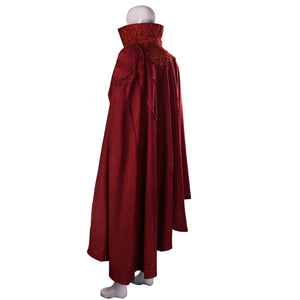 Marvel Movie Doctor Strange Costume Cosplay Steve Red Cloak Costume Robe Halloween Costume Party