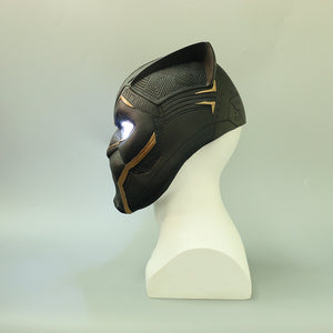 New Gold Black Panther LED Helmet Avengers Black Panther helmet Superhero LED Helmet Halloween Party Props