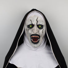 Load image into Gallery viewer, The Nun Horror  The Conjuring Valak Cosplay helmet Full Head Horror Scary Halloween Party Props