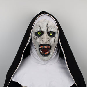 The Nun Horror  The Conjuring Valak Cosplay helmet Full Head Horror Scary Halloween Party Props