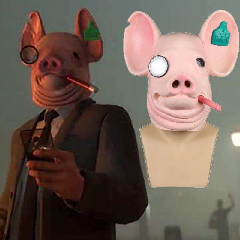 New Game Watch Dogs: Legion Cosplay Legion Winston Pig helmet King of Hearts Watch Dogs helmet Halloween Party Prop