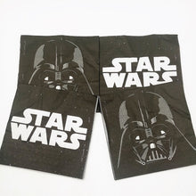 Load image into Gallery viewer, 20pcs/bag star wars Theme Party Paper Napkin Paper Tissue  Kids Birthday Party  decoration