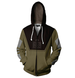 Movie Star Wars zipper Hoodie Cosplay Costume