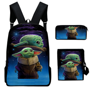 movie Star Wars Schoolbag Cosplay Backpack three-piece