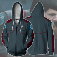 Load image into Gallery viewer, Star Discovery Trek Hoodie Cosplay Costume