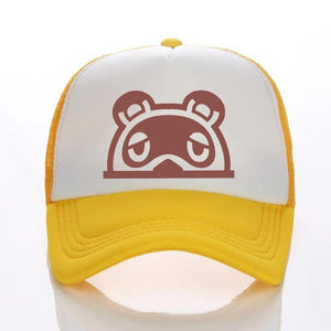 Animal Crossing cartoon hat sunscreen net hat hot sale game raccoon hat baseball cap Tom Nook Timmy Tommy