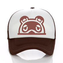 Load image into Gallery viewer, Animal Crossing cartoon hat sunscreen net hat hot sale game raccoon hat baseball cap Tom Nook Timmy Tommy