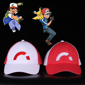 Anime Pocket Monster Cosplay Costumes Caps Pokemon Caps Baseball Ash Halloween Party Prop
