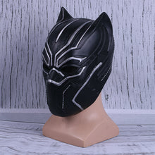Load image into Gallery viewer, Black Panther helmet Movie Captain American Fantastic Four Men Cosplay Helmet Party Latex