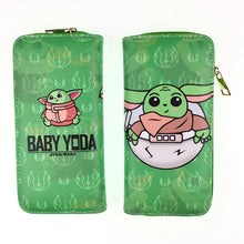 Load image into Gallery viewer, Movie  Star Wars Yoda baby zipper wallet  Kid gift