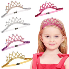 Load image into Gallery viewer, Princess Headband Elastic Hair Crown Cosplay Accessories Party Gift Child Hair Jewelr