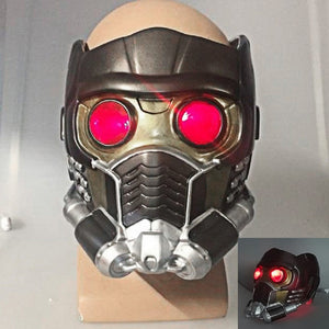 Cos Guardians of the Galaxy Helmet Cosplay Peter Quill Helmet PVC with Led Light Star Lord Helmet Halloween Party Helmet Adults