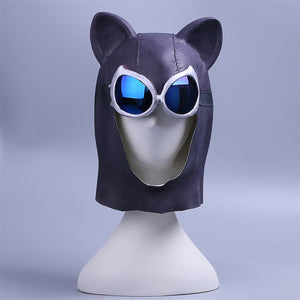 Cosplay Catwoman helmet Black Latex Cat helmet Cat Woman Batman Halloween helmet Prop