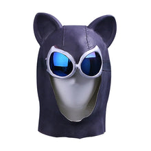 Load image into Gallery viewer, Cosplay Catwoman helmet Black Latex Cat helmet Cat Woman Batman Halloween helmet Prop