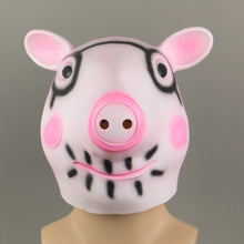 Load image into Gallery viewer, Cosplay Cute Pig George Head helmet Halloween Animal Masquerade Fancy Dress Latex helmet