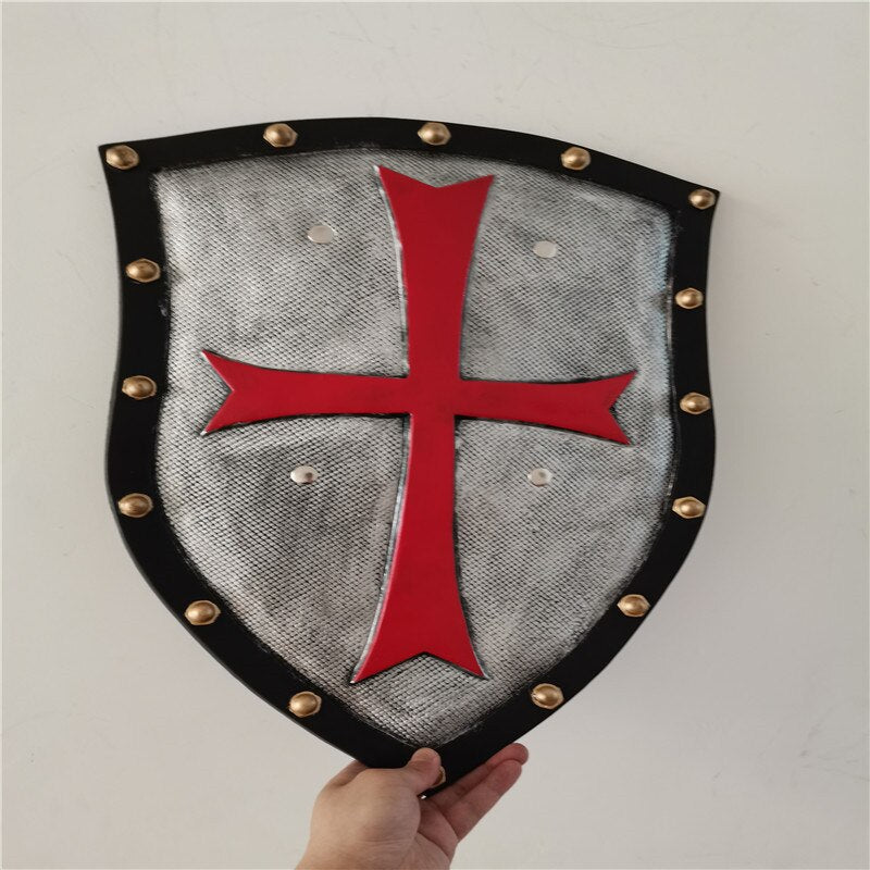 Movie Anime Game Red Crusader Pope Knight Shield Halloween Cosplay Prop Weapon Shield