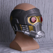 Load image into Gallery viewer, Cosplay Star  LED Helmet Latex Infinity War Quill LED helmet Superhero Props Halloween Party