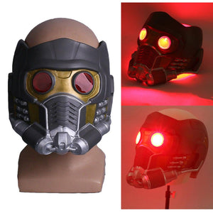 Cosplay Star  LED Helmet Latex Infinity War Quill LED helmet Superhero Props Halloween Party