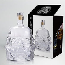 Load image into Gallery viewer, star wars Darth Vader white soldier glass wine bottle Jug